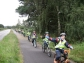 P5 cycling to Coastal School each week