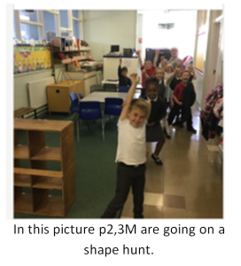 P2/3 are going on a shape hunt